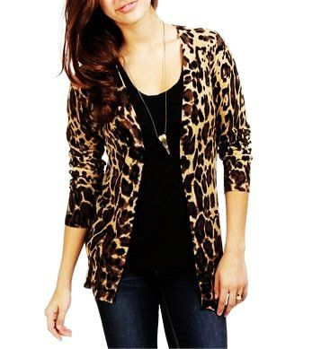 Leopard Boyfriend Cardigan Sweater for Women - Hot Boyfriend ...
