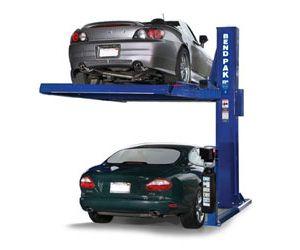 Bendpak Pl 6000 Single Post Car Parking Storage Lift 6 000 Lb Capacity Garage Lift Garage Car Lift Car Stacker