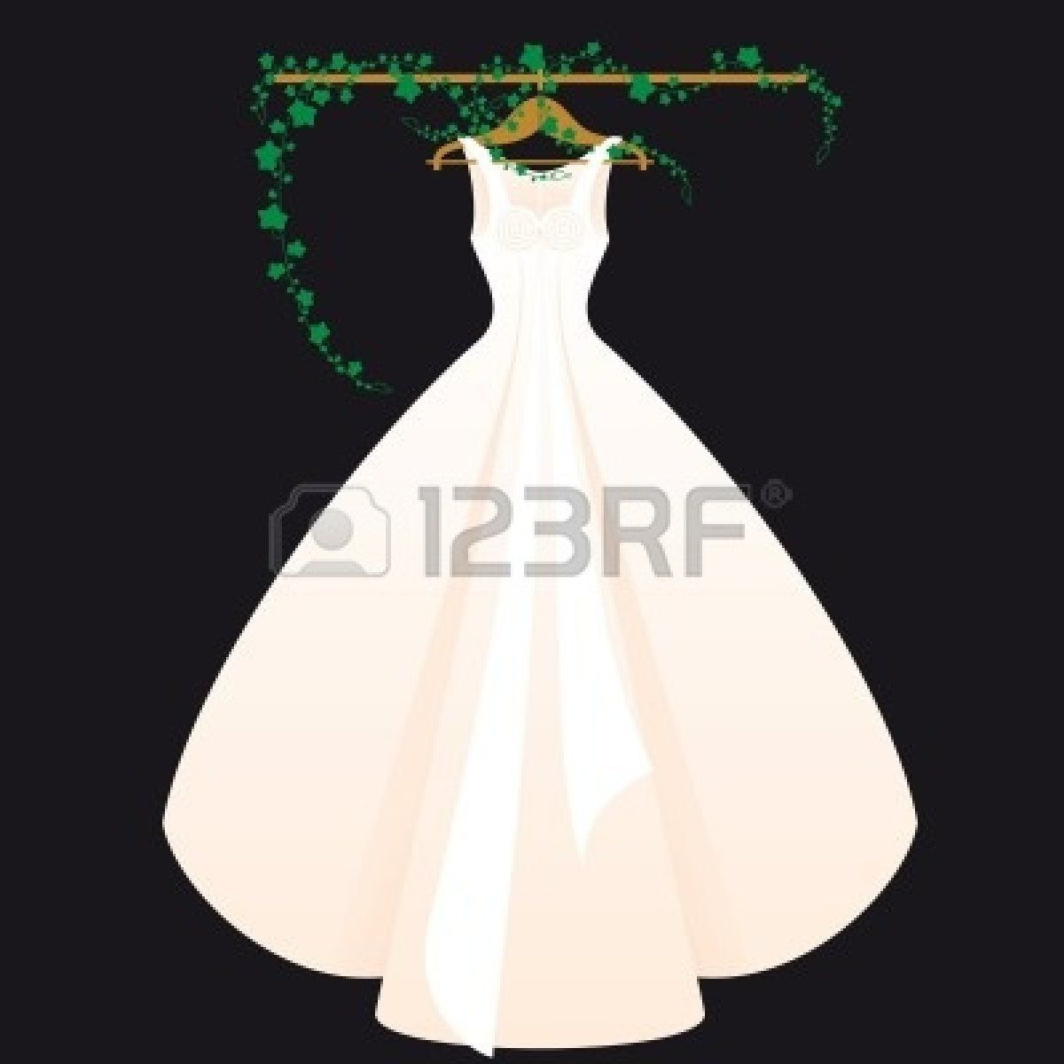 Wedding Dress Clipart Black And White | cheapweddingdesign. | Craft ...