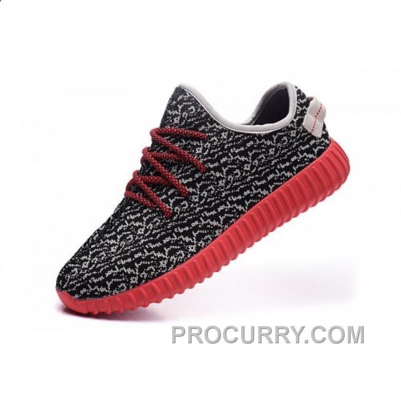 / mens scarpe adidas yeezy impulso 350 il rosso e il nero