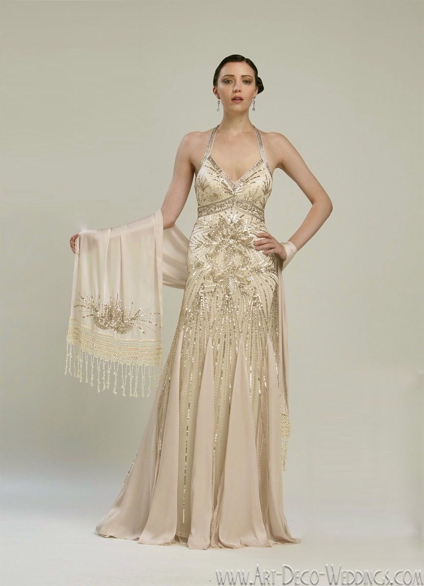 Sue Wong 20s Wedding Dress N2133 20s Wedding Dress Art Deco Wedding Dress Deco Wedding Dress