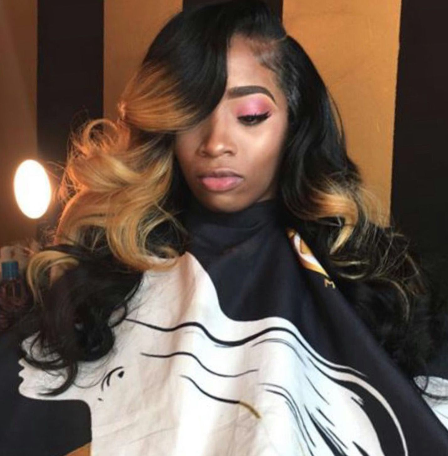 Side Part Curly Ombre Sewin Curly Weave Hairstyles Hair