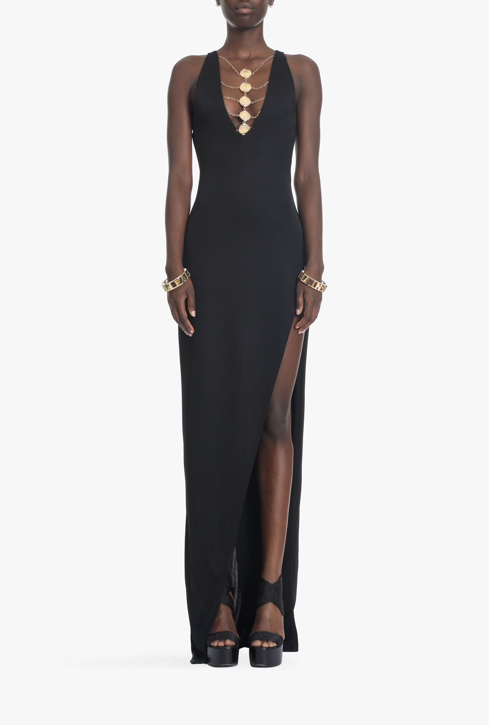Dress for Women, Evening Cocktail Party On Sale, Black, Viscose, 2017, 8 Balmain