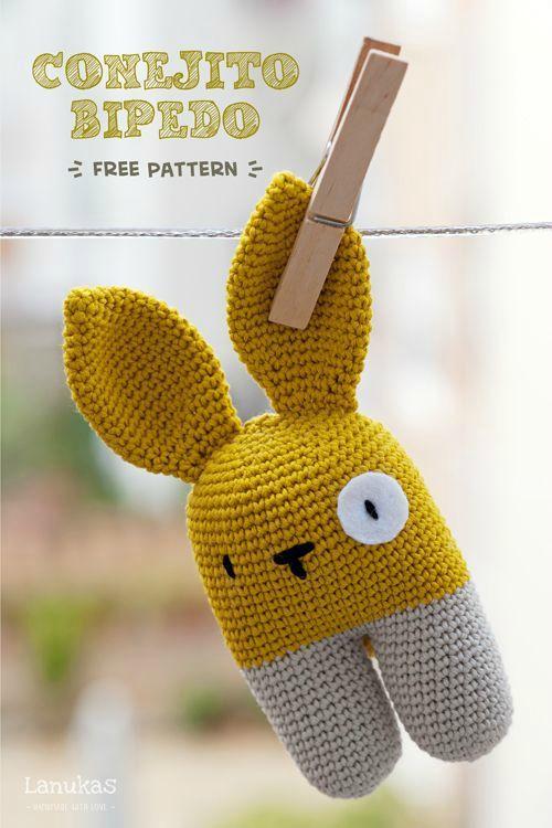 Patron gratuit – Lapin Modèle au Crochet pour Amigurumi ... | 750x500