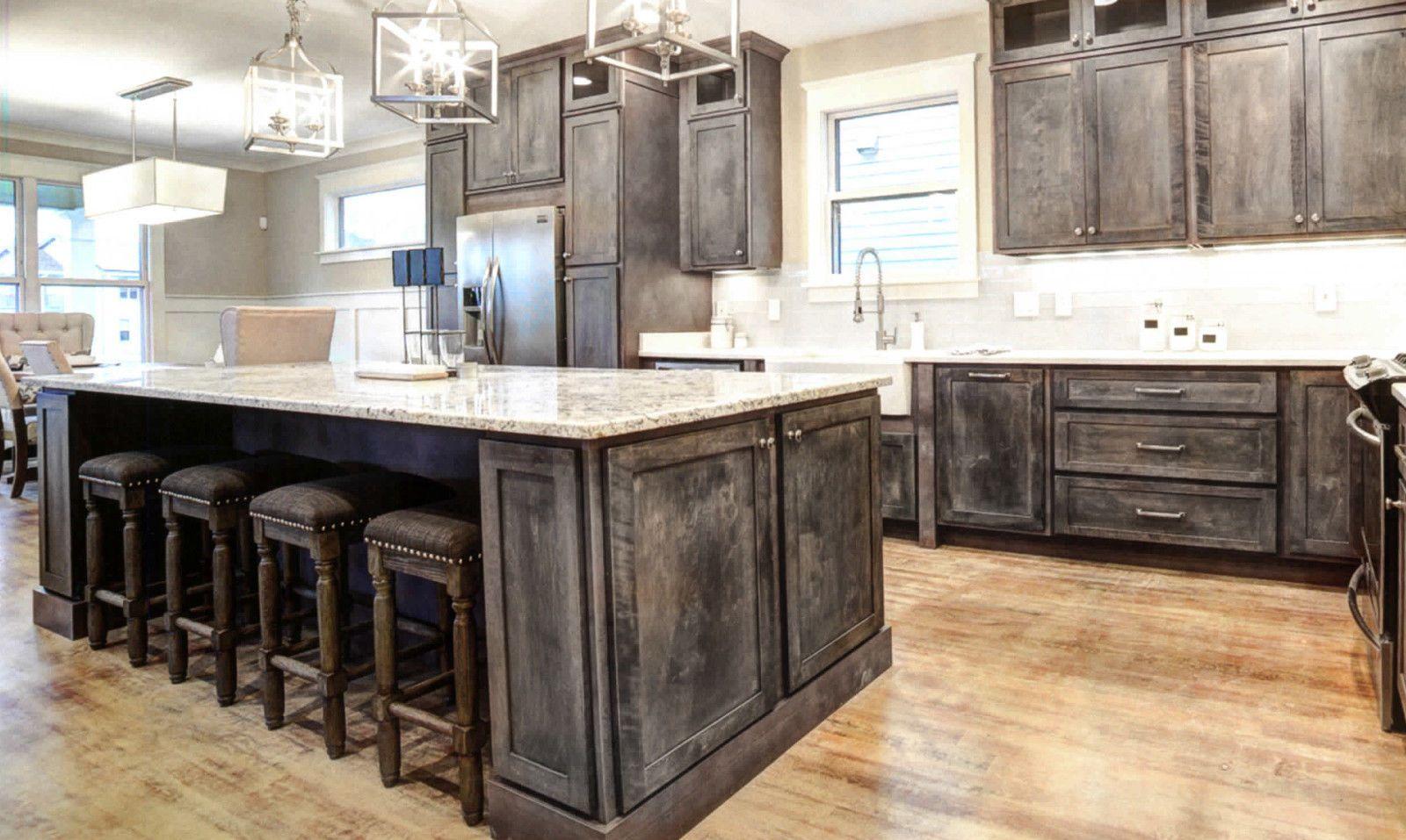 Rustic Shaker Grey Kitchen CabinetsSample doorRTAAll wood ...