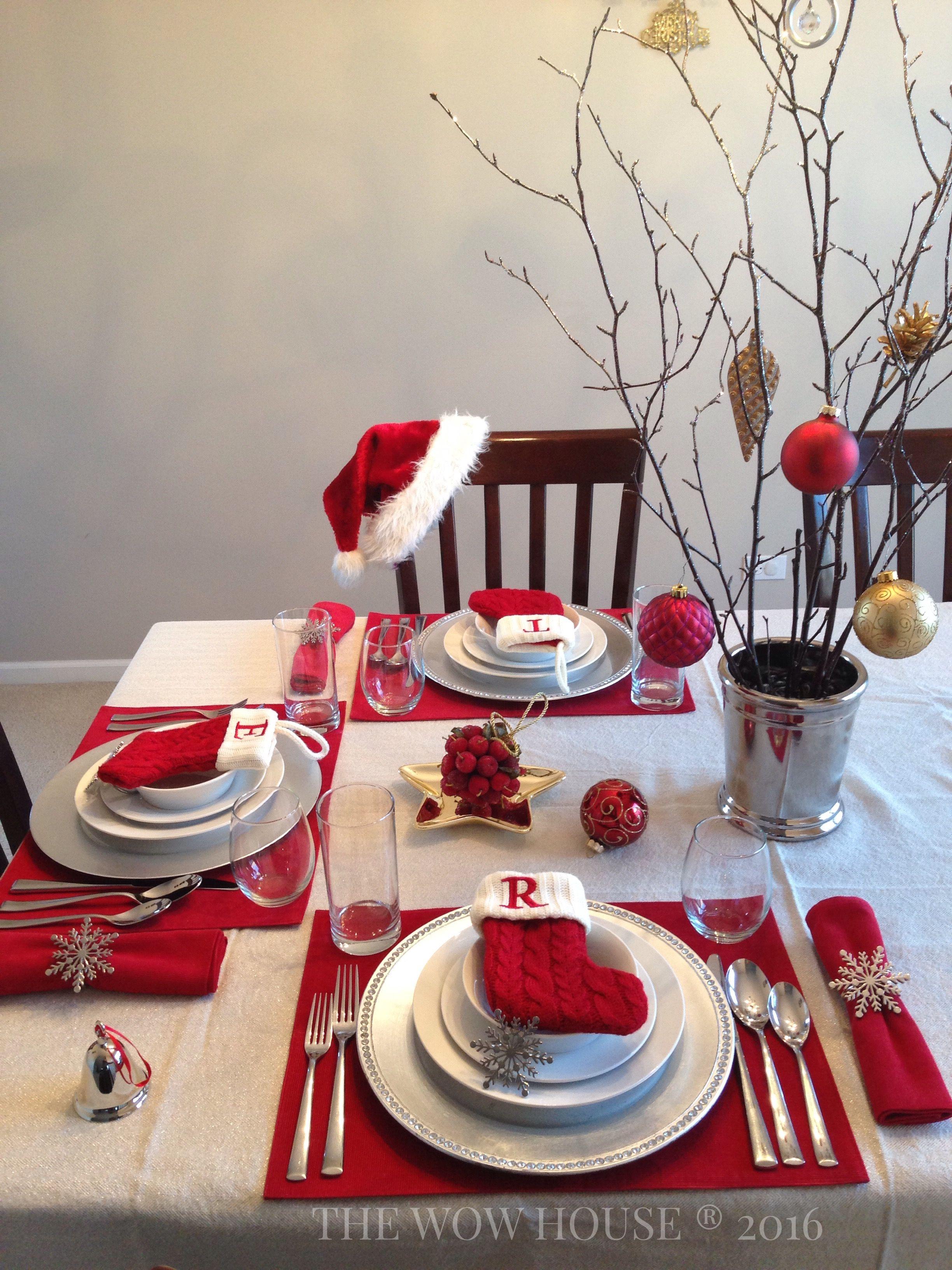 My TRADITIONAL Christmas Eve/Christmas Day table setting