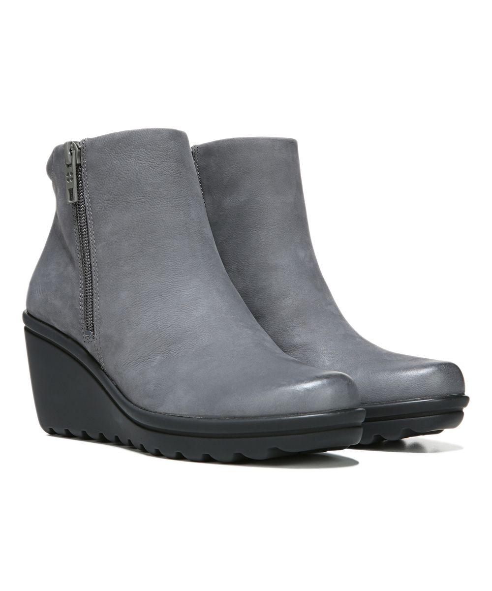 73399f49df4 Gray Quineta Leather Wedge Bootie