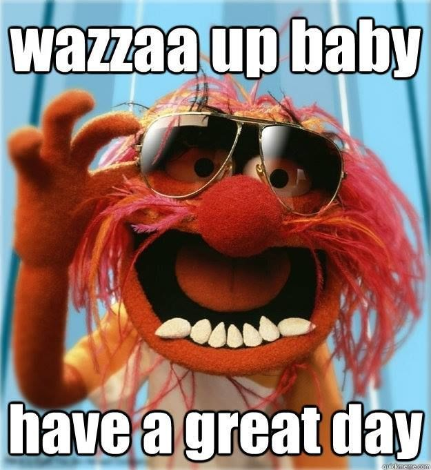 Wazzaa Up Baby Have A Great Day Morning Good Morning Morning Quotes