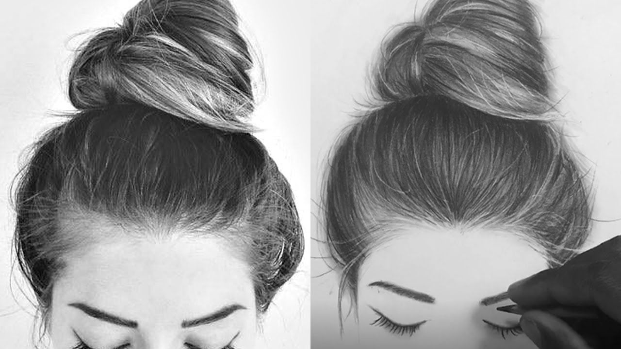 How I Draw Hair With Charcoal Pencils (With images) | How ...