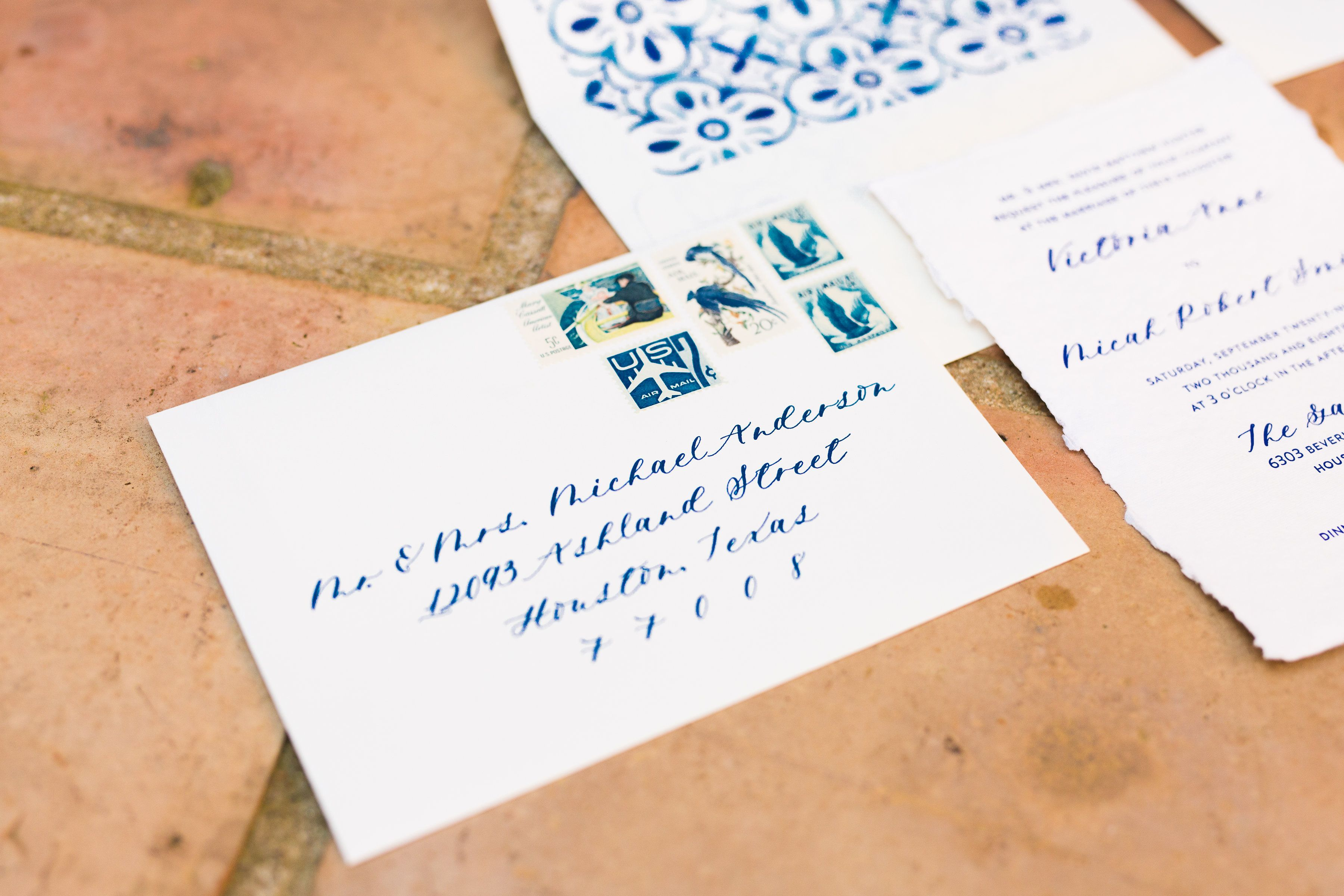 Letterpress Spanish Mediterranean custom wedding invitations, hand ...