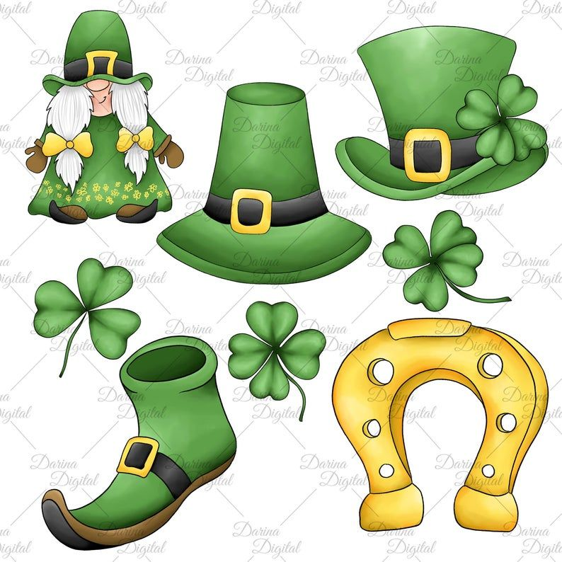 This Item Is Unavailable Etsy In 2021 St Patricks Day Clipart St Patrick S Day Gnomes Leprechaun Pictures