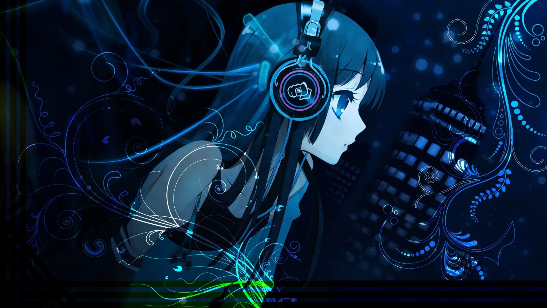 Anime-Girl-Wearing-Headphones-Wallpaper-26-For-Desktop ...