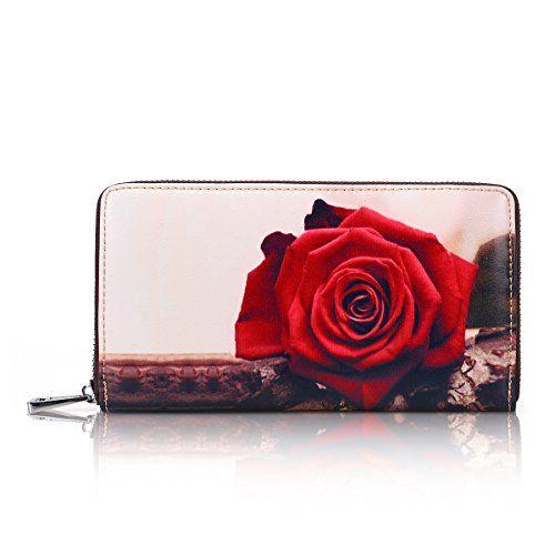 86a5e0583882 APHISON Wallets for Women Card Holder Zipper Purse Phone Clutch ...