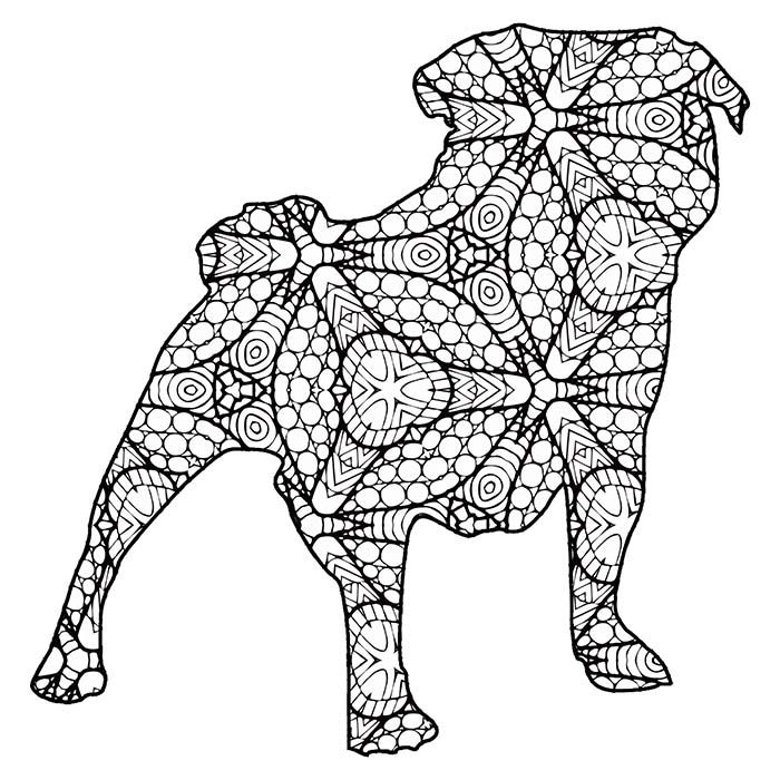 30 Free Printable Geometric Animal Coloring Pages Geometric Animals Animal Coloring Books Dog Coloring Book