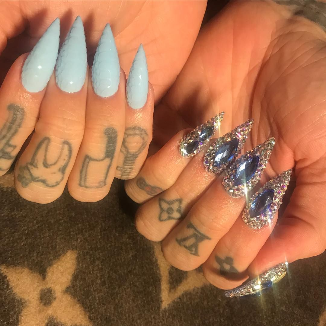 Pin By C R On Nails In 2020 Best Acrylic Nails Star Nails Fun Nails