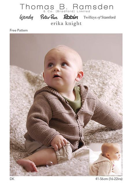 Ravelry: DK Hooded Jackets pattern by Thomas B. Ramsden & Co | Baby ...