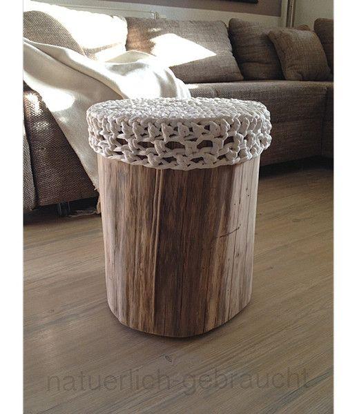 Beistelltische Baumstamm Hocker Beistelltisch Nachttisch Ein