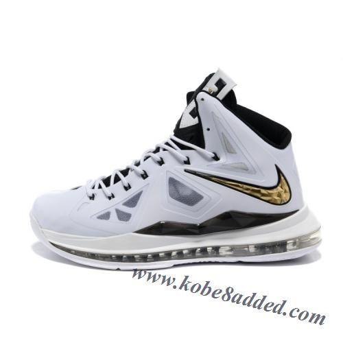 24983b4a936d8 Nike Lebron X 10 2012 White Navy Gold Black Medal