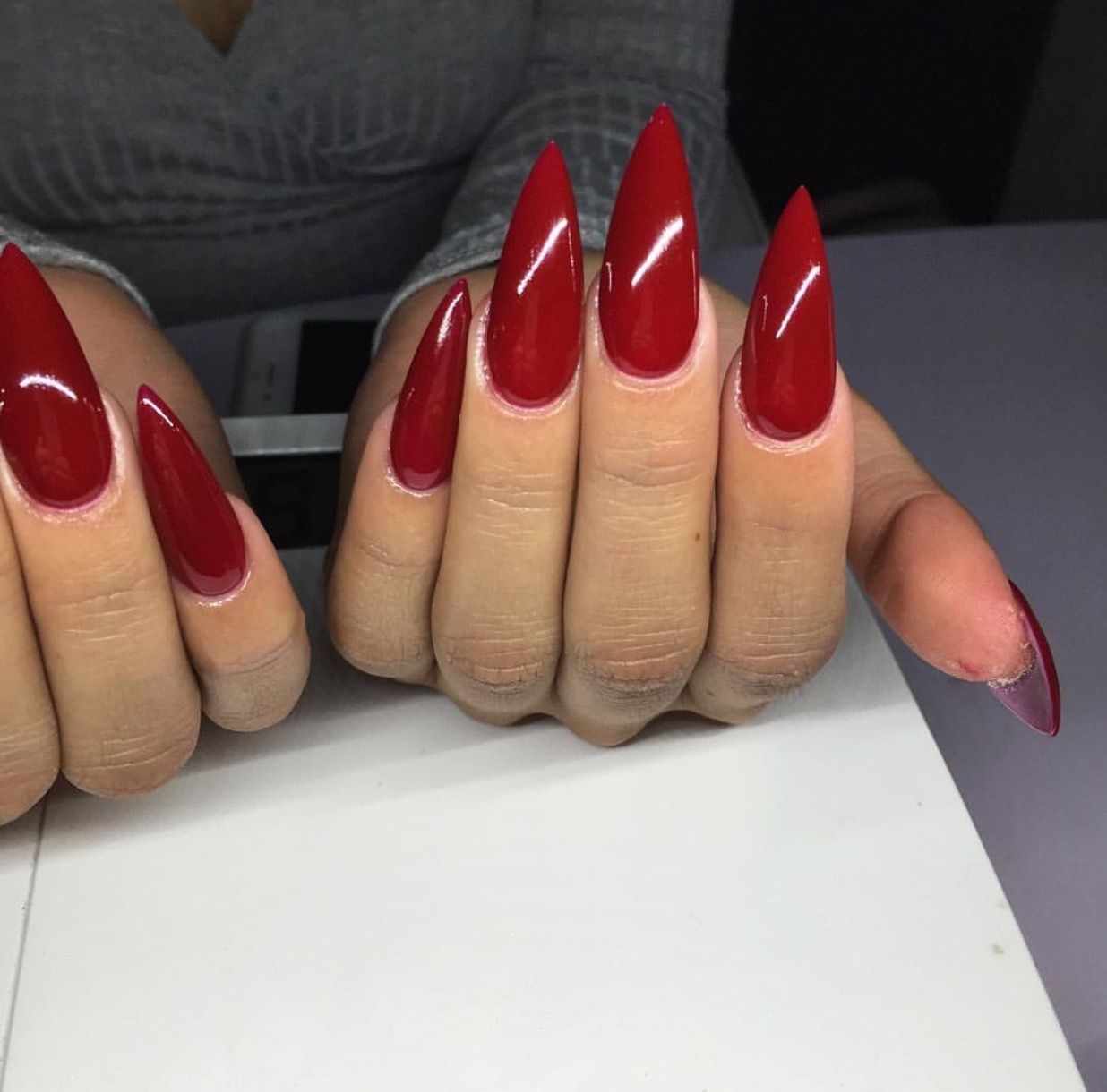 Red Stiletto Nails Red Stiletto Nails Acrylic Nails Stiletto Long Red Nails