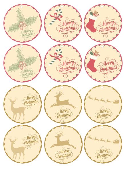 Etiquetas imprimibles navidad gratis. Christmas tags free printable ...