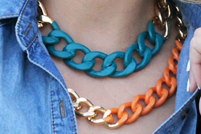 Chunky Necklaces   Tremendous Iron Chain Necklaces For Women