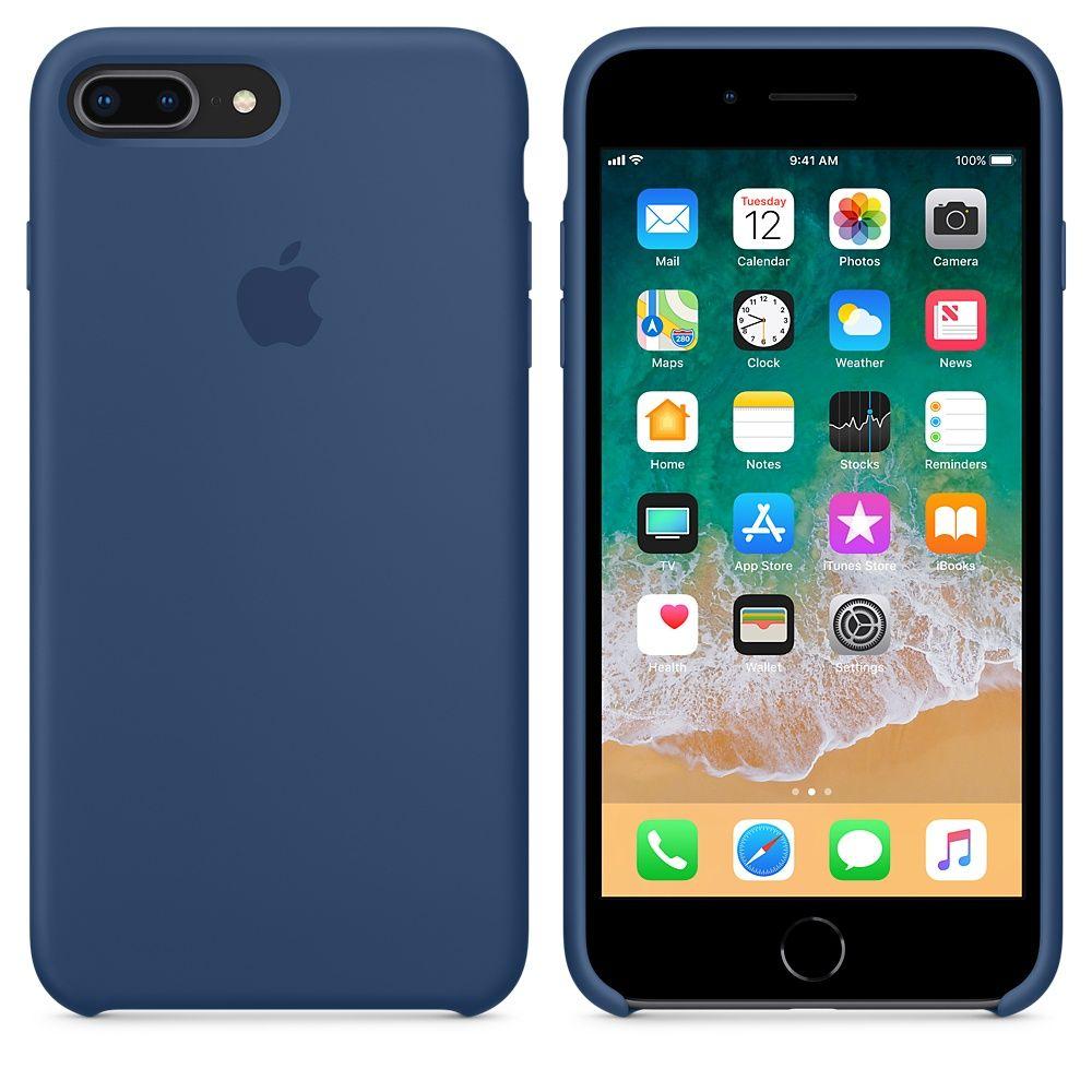 Iphone 8 Plus 7 Plus Silicone Case Black Iphone Apple Ipad Case Apple Iphone