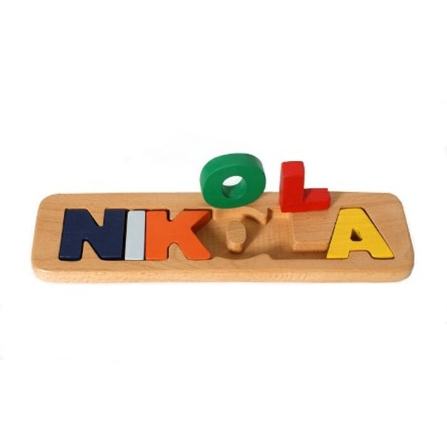 Wooden Name Puzzle - 6 letters