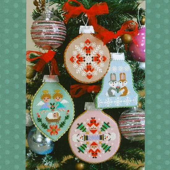 super buzzy category embroidery cross stitch product gera cross stitch christmas ornaments - Cross Stitch Christmas Decorations
