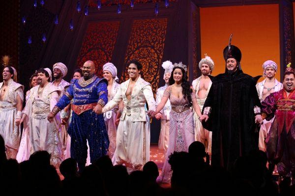 Photo Coverage Inside Aladdin S Magical Opening Night Curtain Call Curtain Call Opening Night Aladdin