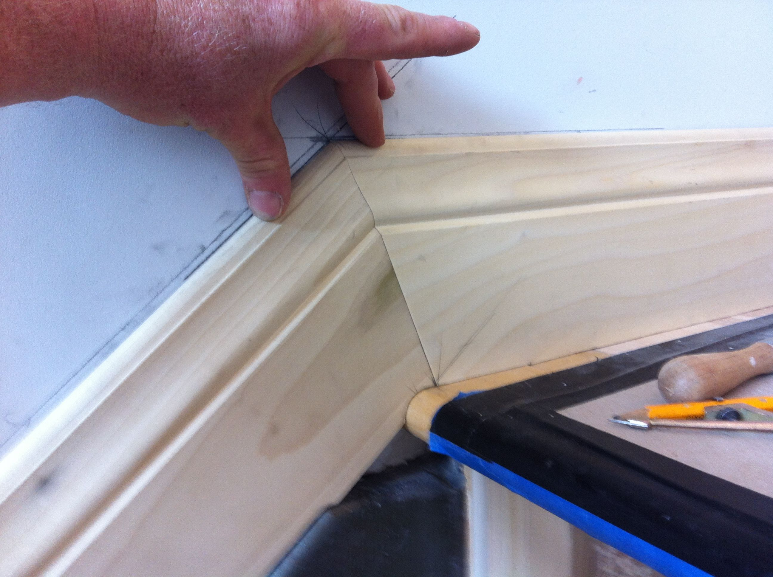 How to cut base molding in place - Installing Baseboard On Stair Stringer