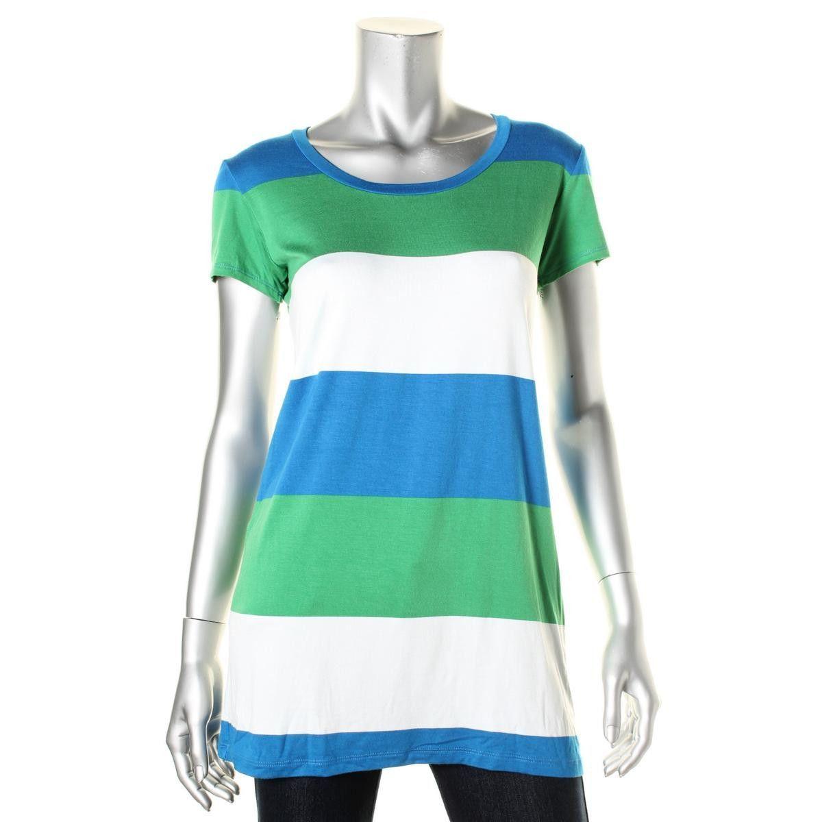 Tommy Bahama Womens Jersey Tunic Tunic Top