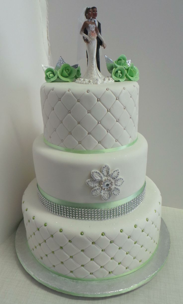 blue and green elegant wedding cakes - Google Search