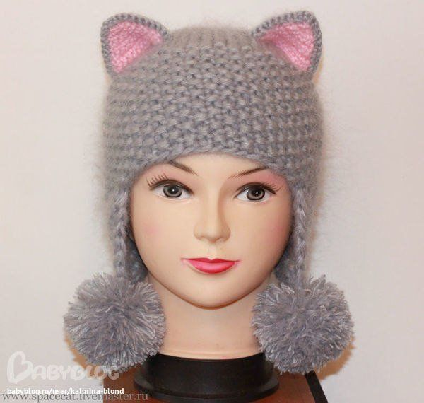 Вязание спицами для детей со схемами для девочек шапочки