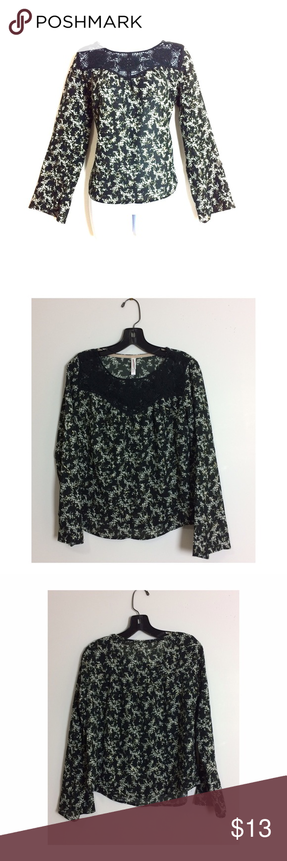 🖤Xhilaration Lace Vintage Blouse🖤 Love this blouse super cute, stylish and trendy! NWOT! PRICE IS NOT FIRM OFFERS ACCEPTED UPON REQUEST...😊 Measurements: Armpit to Armpit: 19 Length:21 This listing is BRAND NEW WITHOUT TAGS! Material: 98% Polyester 2% Spandex Lace: 100% Polyester Xhilaration Tops Blouses