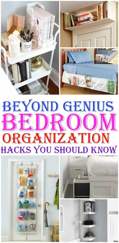 8 Genius Bedroom Organization Hacks You Should Know | Diy ...
