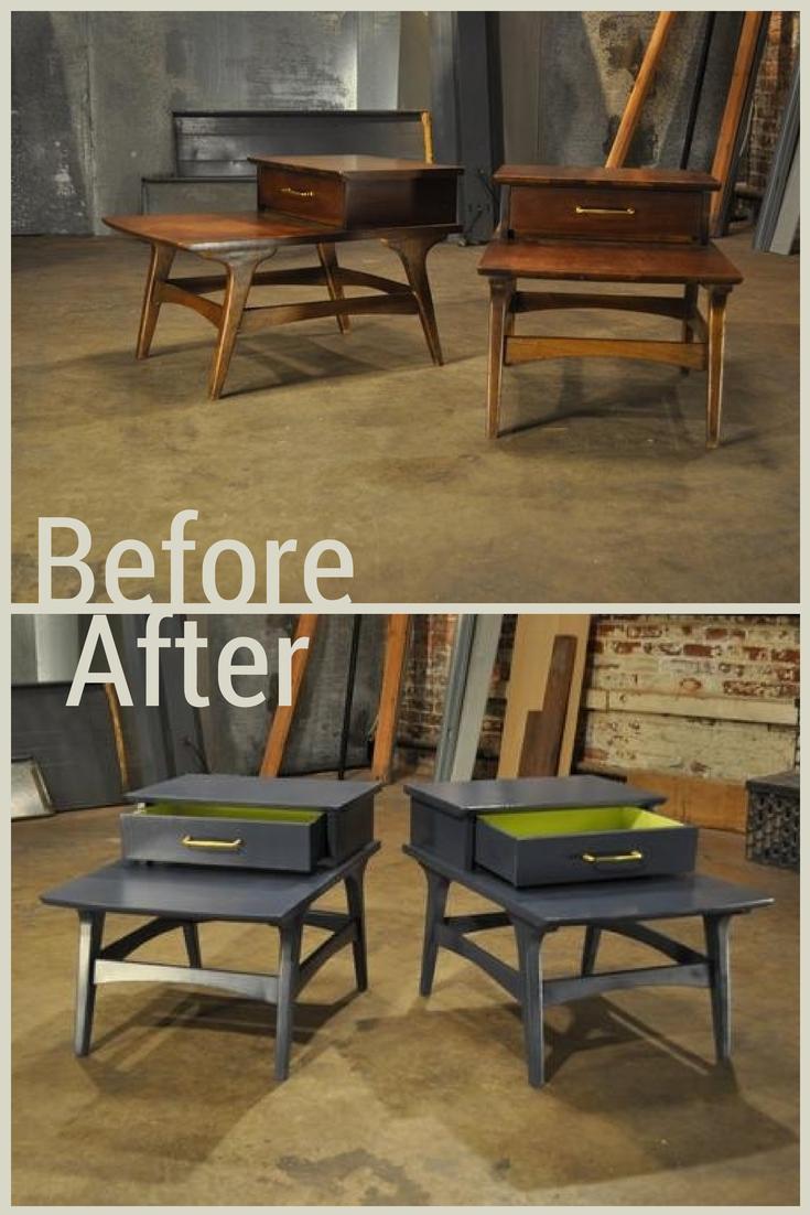 Woood Sidetable Job.After A Sleek Paint Job These Simple Side Tables Look Like