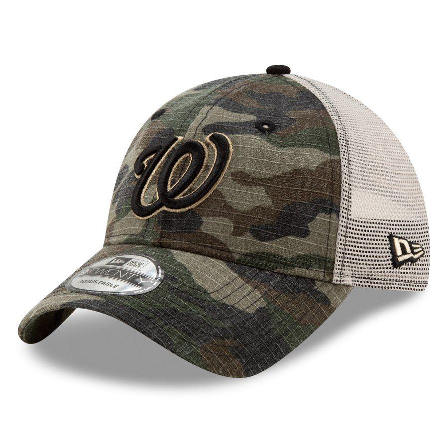 premium selection 952b3 2e57c Men s Washington Nationals New Era Camo Tonal Trucker 9TWENTY Adjustable  Snapback Hat