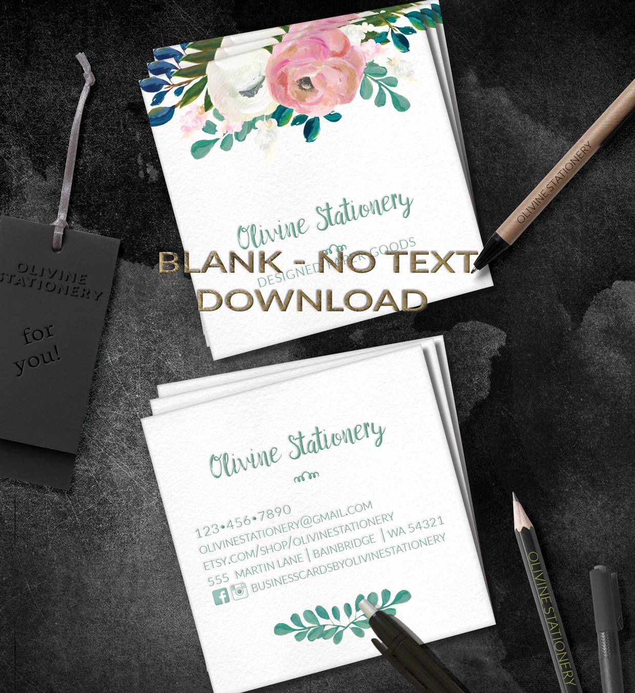 Pin By Olivinestationery On Business Cards    Blank