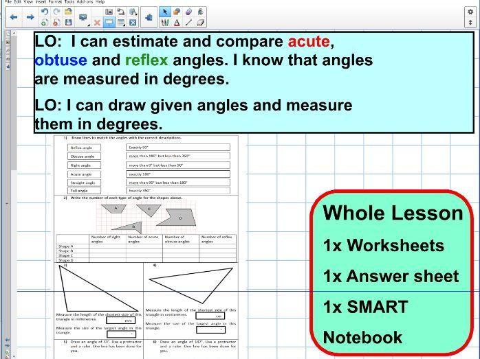 ANGLES - draw - measure - estimate - compare - ks2 year 5 & 6 - SATS ...
