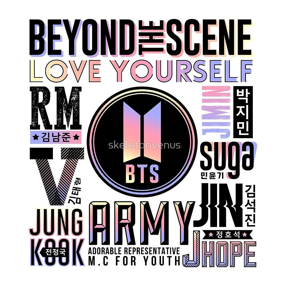 BTS 2 Font Collage by skeletonvenus Bts papel de parede