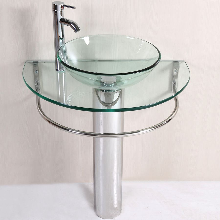 Kokols Usa Polished Chrome 30-In Vessel Single Sink Bathroom Vanity ...