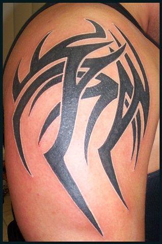 randy orton 39 s right shoulder tattoo by margaret bushell tribal design just like randy. Black Bedroom Furniture Sets. Home Design Ideas