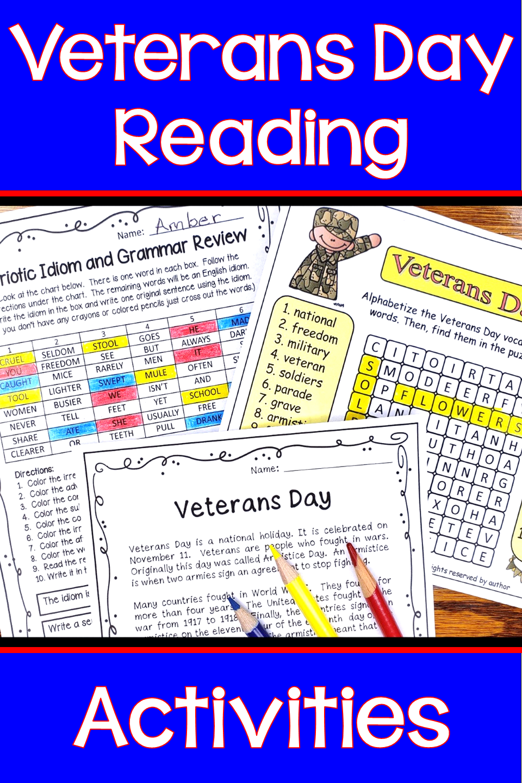 Veterans Day Activities Veterans Day Activities Vocabulary Exercises Veterans Day [ 1440 x 960 Pixel ]