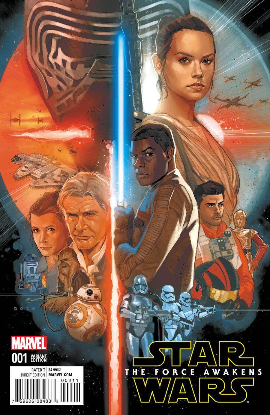 "Quesada, Noto Cover Marvel's ""Star Wars: The Force Awakens"" Adaptation"