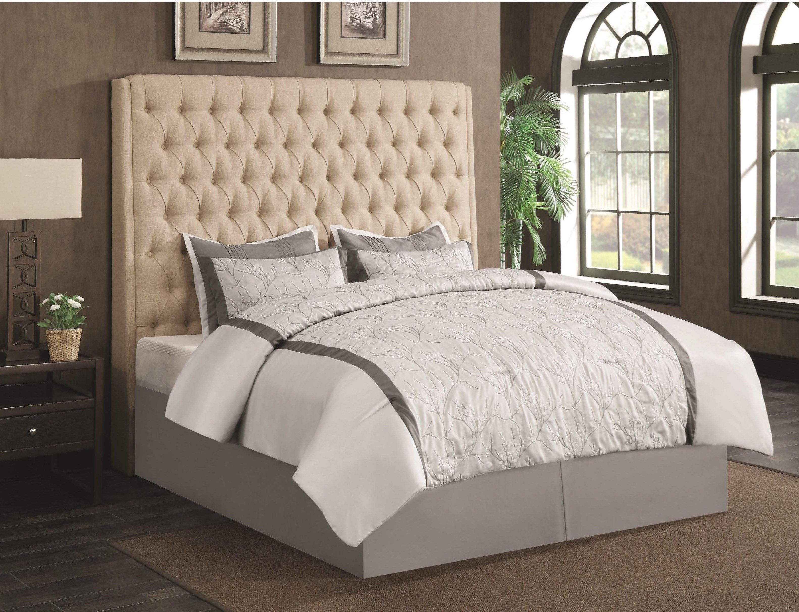 Best Camille Upholstered Headboard By Coaster 300722 Queen 400 x 300