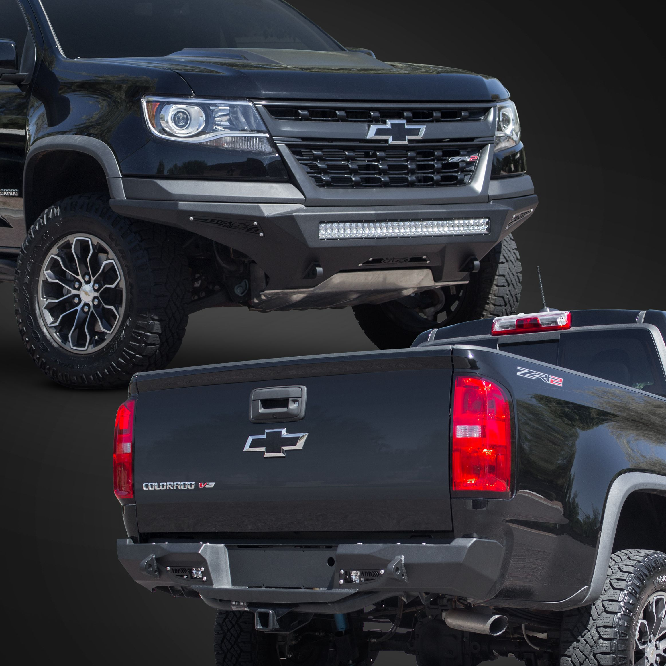 Addictive Desert Designs Is Excited To Announce The Release Of Our Stealth Fighter Line For The Chevy Zr2 Clic Chevy Colorado Accessories Chevy Colorado Chevy