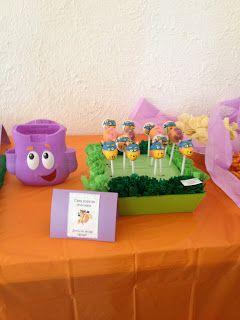 Swiper cake pops make a great addition to a Dora the Explorer