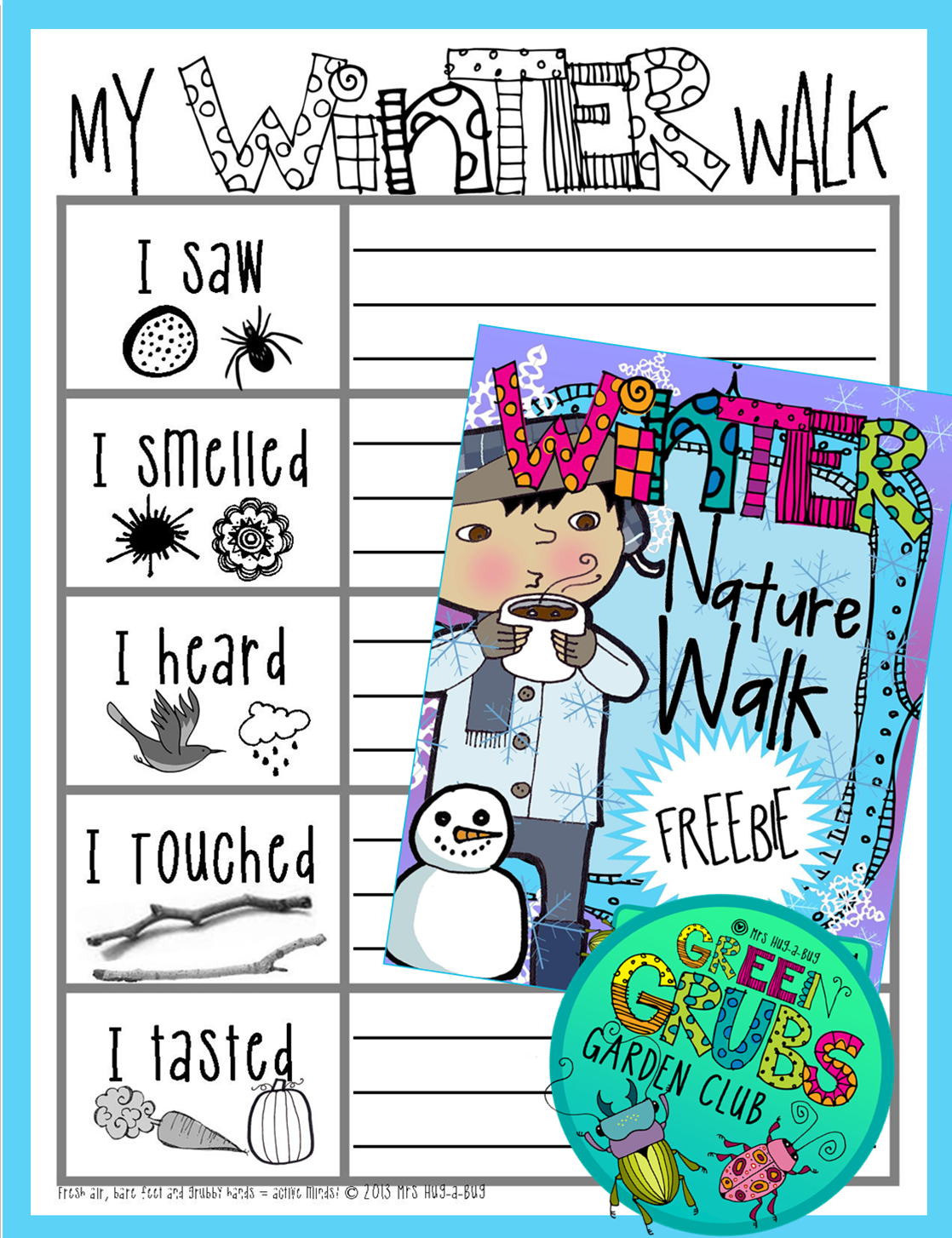 Winter Nature Walk Freebie Learning Themes Study On Electricity It Walks Kids Through The Of And Get Your Bundled Up In Some Warm Clothes Grab Magnifying Glasses Head Outside For A This Is Fun Activity