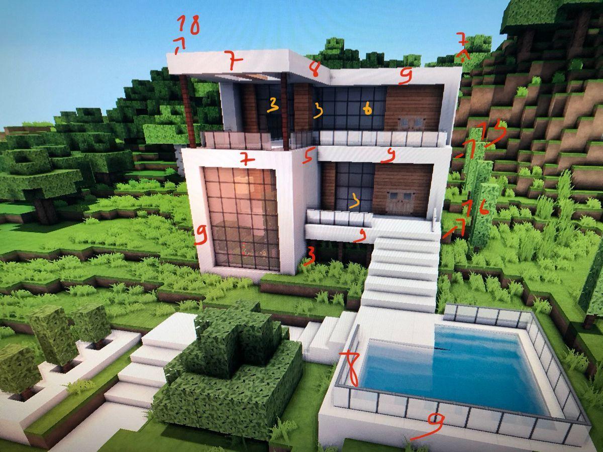 Minecraft Modernes Haus Ein Modernes Weisses Haus In Minecraft Minecraft Is Centered On Bui Modern Minecraft Houses Minecraft Modern Easy Minecraft Houses