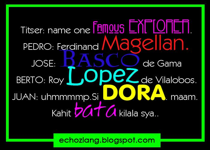 Funny Tagalog Quotes Explorer Dora The Explorer Echoz Lang Adorable Tagalog Quotes About Friendship